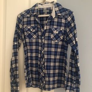 Delias Blue White Flannel